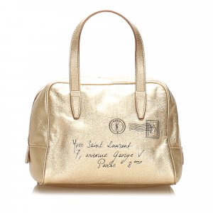 YSL Y Mail Patent Leather Handbag