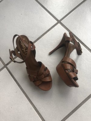 Ysl Yves Saint Laurent Tribute Heels leder braun 37