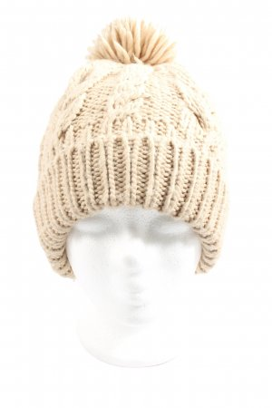 YSTRDY Crochet Cap natural white cable stitch casual look