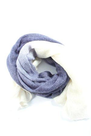 YSTRDY Szydełkowany szalik niebieski-biały W stylu casual
