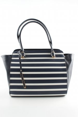 YSTRDY Handtasche schwarz Streifenmuster Business-Look