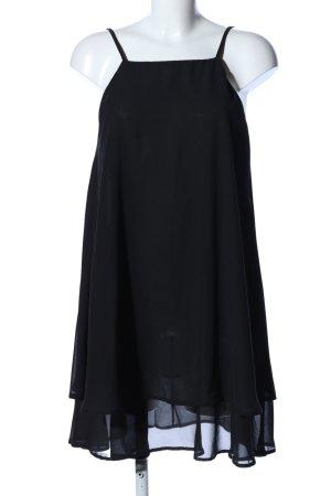 Chiffonkleid schwarz Elegant