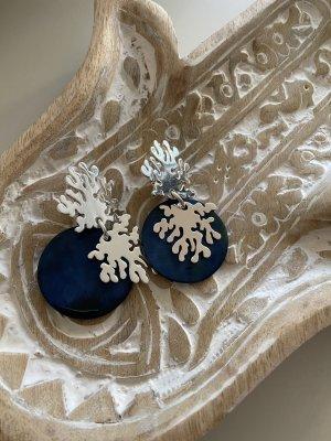 Yulyaffairs Earclip dark blue-silver-colored