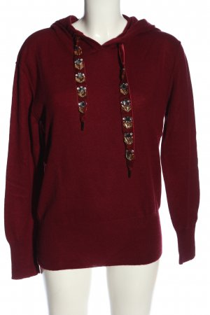 YUMA Pull à capuche rouge style décontracté