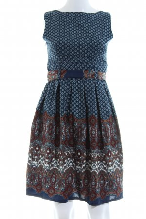 Yumi A-Linien Kleid grafisches Muster Casual-Look