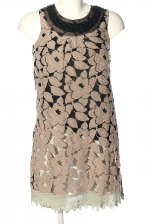 Yumi A-Linien Kleid nude-schwarz Allover-Druck Elegant