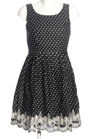 Yumi Sukienka o kroju litery A czarny-w kolorze białej wełny Elegancki