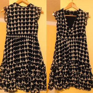 Yumi Babydoll Dress black-cream