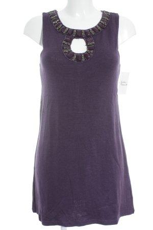 Yumi Ołówkowa sukienka ciemny fiolet Błyszczący