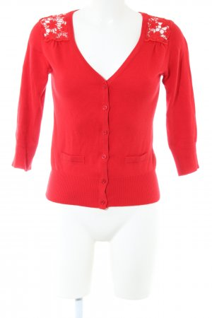 Yumi Cardigan rouge style décontracté