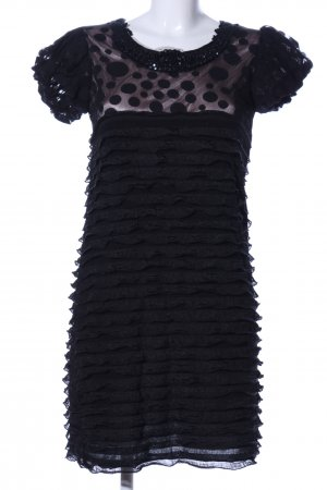 Yumi Cocktailkleid schwarz Punktemuster Casual-Look