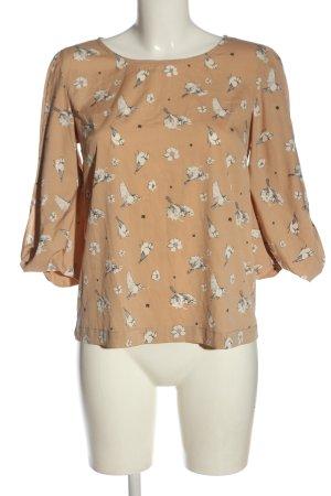 Yumi Koszulowa bluzka kremowy Nadruk z motywem Elegancki