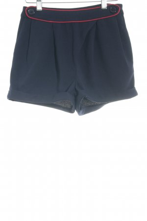 Yumi Hot Pants dunkelblau-dunkelrot Casual-Look