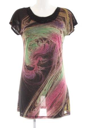 Yumi Jerseykleid abstraktes Muster Casual-Look
