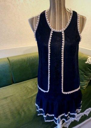 Yumi Kleid blau weiß Matrosenkleid Minikleid 36 S