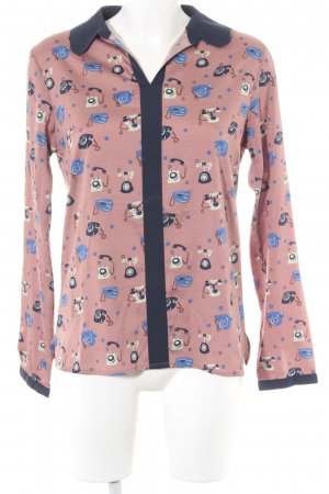 Yumi Kurzarm-Bluse Motivdruck Casual-Look