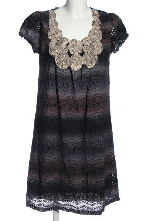 Yumi Shortsleeve Dress blue-light grey striped pattern casual look