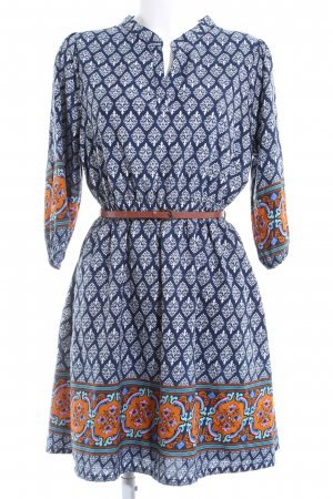 Yumi Kurzarmkleid blau Mustermix Business-Look