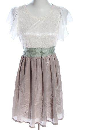 Yumi Kurzarmkleid weiß-silberfarben Casual-Look