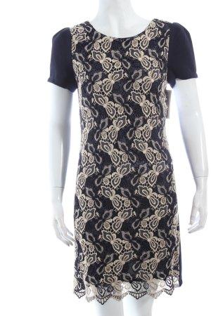 Yumi Sukienka z krótkim rękawem ciemnoniebieski-złoto