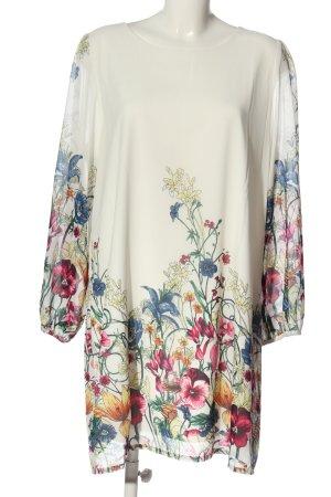 Yumi Bluzka z długim rękawem Wzór w kwiaty Elegancki
