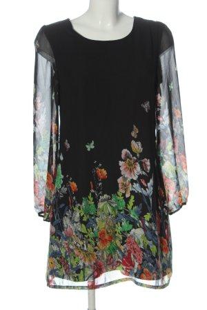 Yumi Robe à manches longues motif de fleur style décontracté