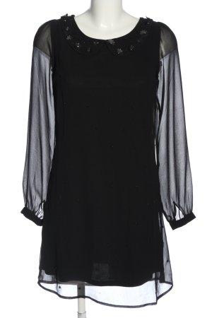 Yumi Sukienka z długim rękawem czarny Elegancki