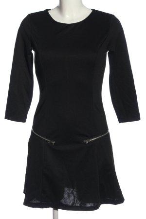 Yumi Robe à manches longues noir style décontracté