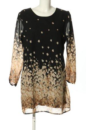 Yumi Langarmkleid abstraktes Muster Elegant