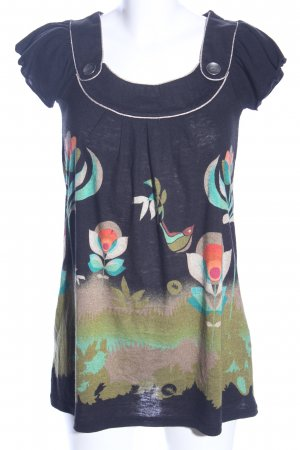 Yumi Longshirt abstraktes Muster Casual-Look