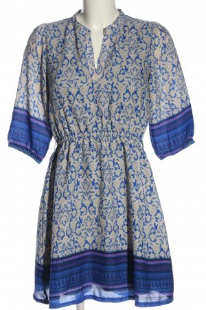 Yumi Robe courte bleu-gris clair motif abstrait style décontracté