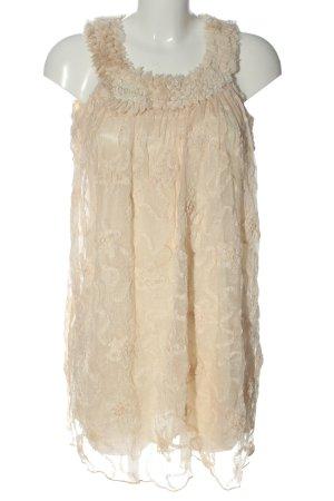 Yumi Sukienka mini kremowy Elegancki