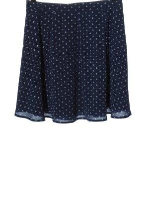 Yumi Miniskirt blue-white themed print casual look