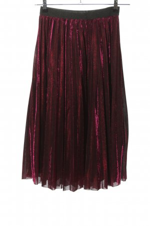 Yumi Pleated Skirt pink-black color gradient elegant