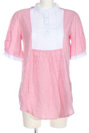 Yumi Schlupf-Bluse pink-weiß Streifenmuster Casual-Look