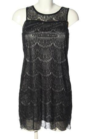 Yumi Koronkowa sukienka czarny Siateczkowy wzór Elegancki