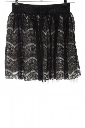 Yumi Lace Skirt black-natural white mixed pattern casual look
