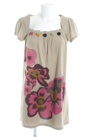 Yumi Strickshirt Blumenmuster Casual-Look