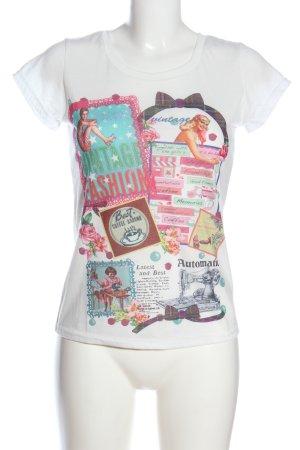 Yumi T-Shirt themed print casual look