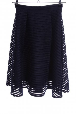 Yumi Cirkelrok blauw gestreept patroon elegant