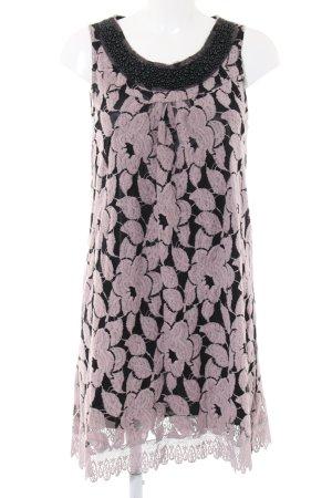 Yumi Trägerkleid schwarz-pink Allover-Druck Business-Look