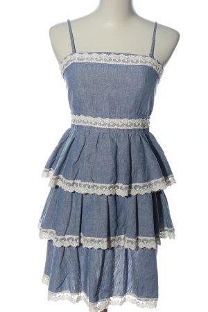 Yumi Trägerkleid blau meliert Casual-Look