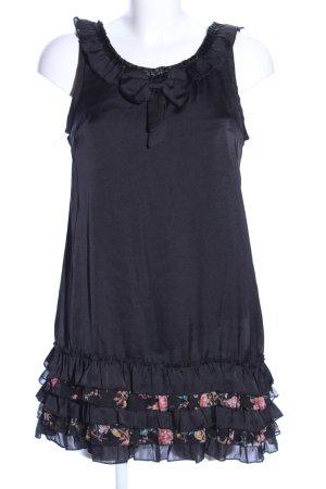 Yumi Trägerkleid schwarz Blumenmuster Casual-Look
