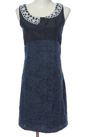 Yumi Blusenkleid blau Blumenmuster Elegant