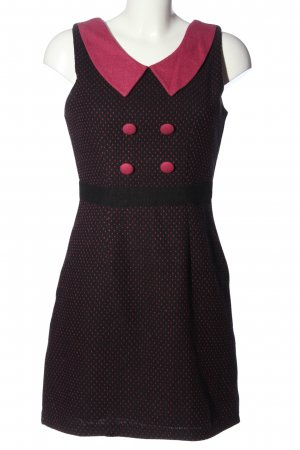 Yumi Trägerkleid schwarz-pink Punktemuster Casual-Look
