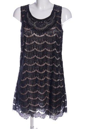 Yumi Trägerkleid braun-schwarz Blumenmuster Elegant