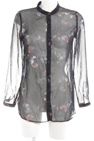 Yumi Transparenz-Bluse Blumenmuster klassischer Stil
