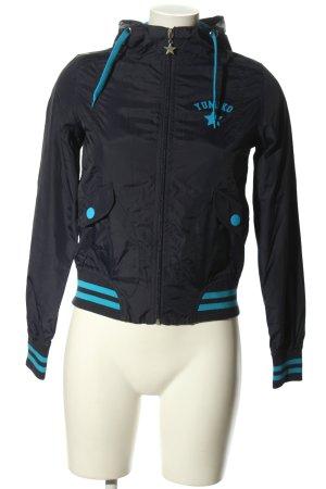 Yumiko Übergangsjacke blau-schwarz Motivdruck sportlicher Stil