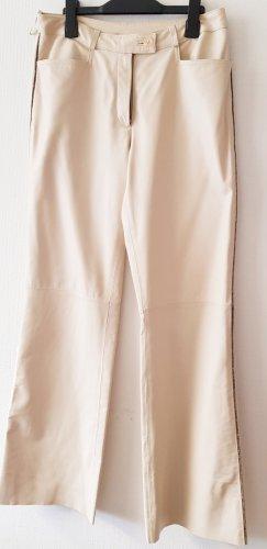Yuppie Pantalone in pelle beige chiaro