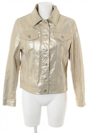 Yuppie Lederjacke goldfarben Casual-Look